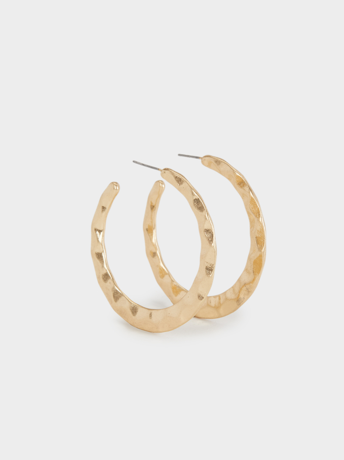Hoop Fever Medium Hoop Earrings , Golden, hi-res