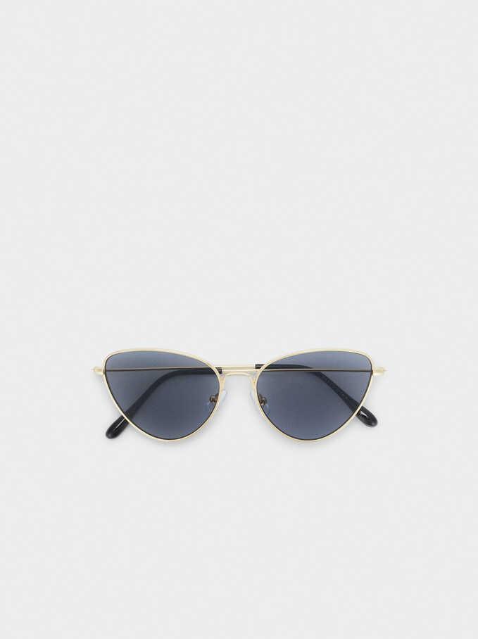 Gafas De Sol Cat Eye, Dorado, hi-res