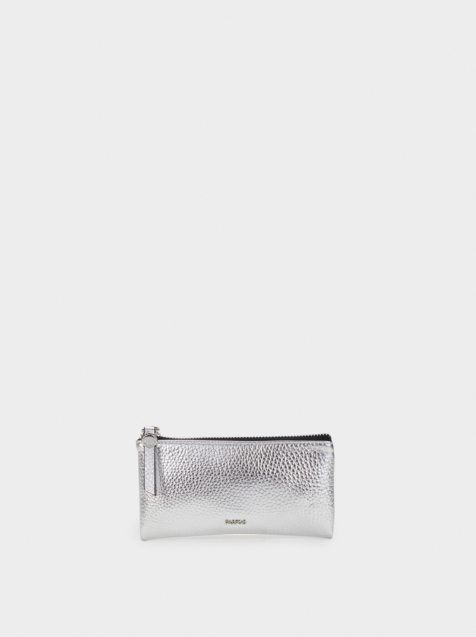 Metallic Multi-Purpose Bag, Silver, hi-res