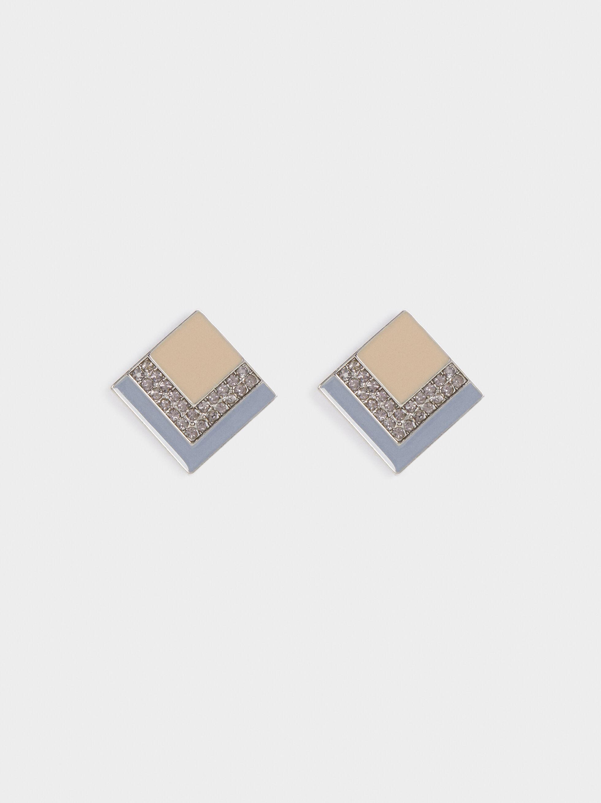 Magnolia Medium Diamond-Shaped Earrings, Multicolor, hi-res