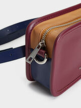 Plain Crossbody Belt Bag, Bordeaux, hi-res