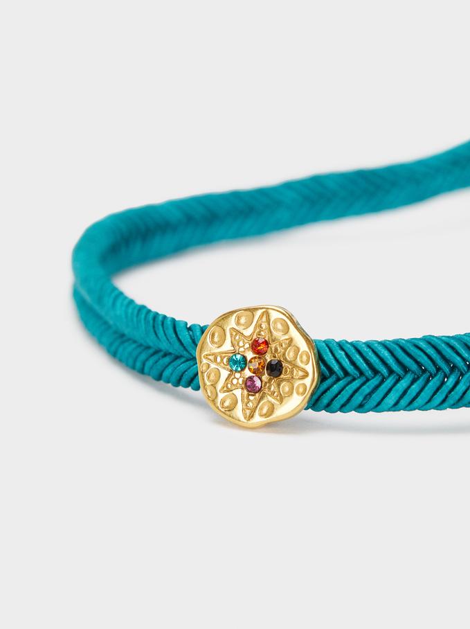 Adjustable Chain Bracelet With Star Detail, Grey, hi-res