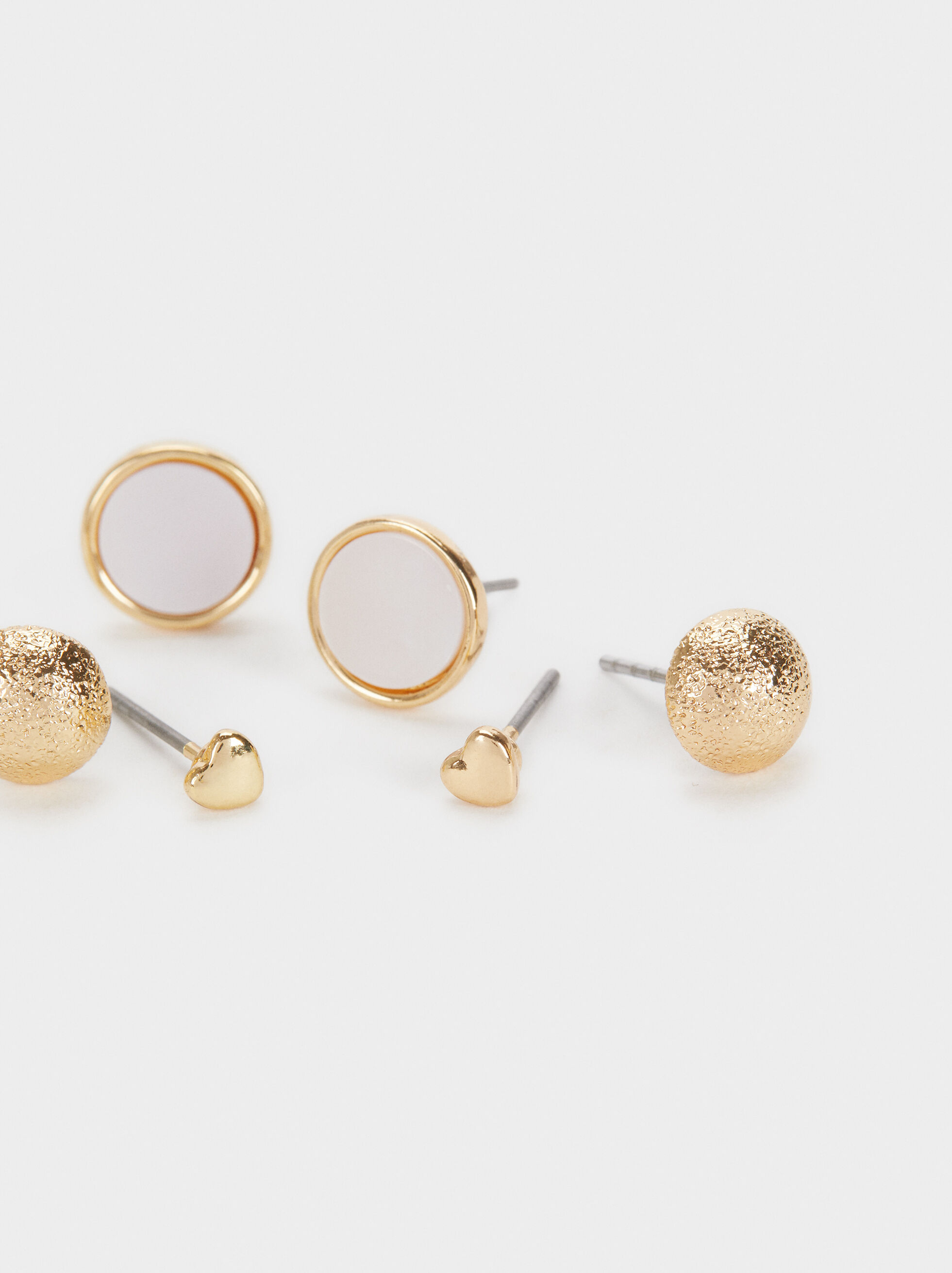 Earring Set, Golden, hi-res