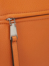 Shoulder Bag With Outer Pocket, Orange, hi-res
