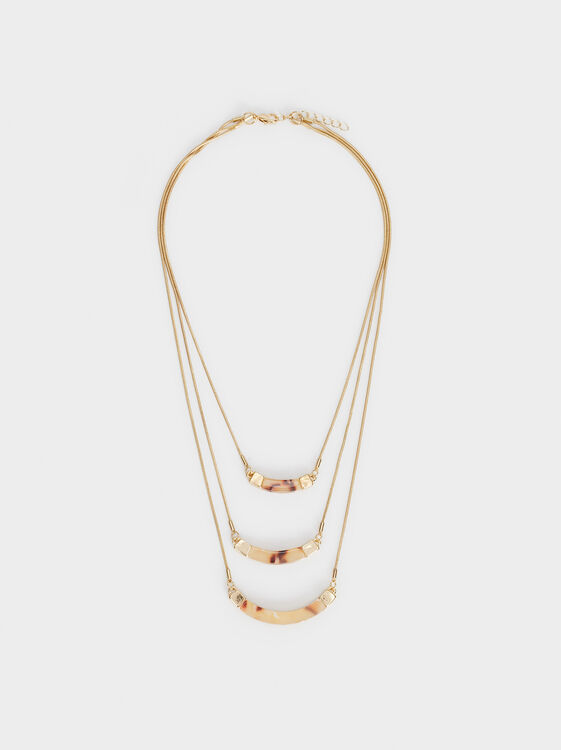 Land Triple-Strand Necklace, Multicolor, hi-res