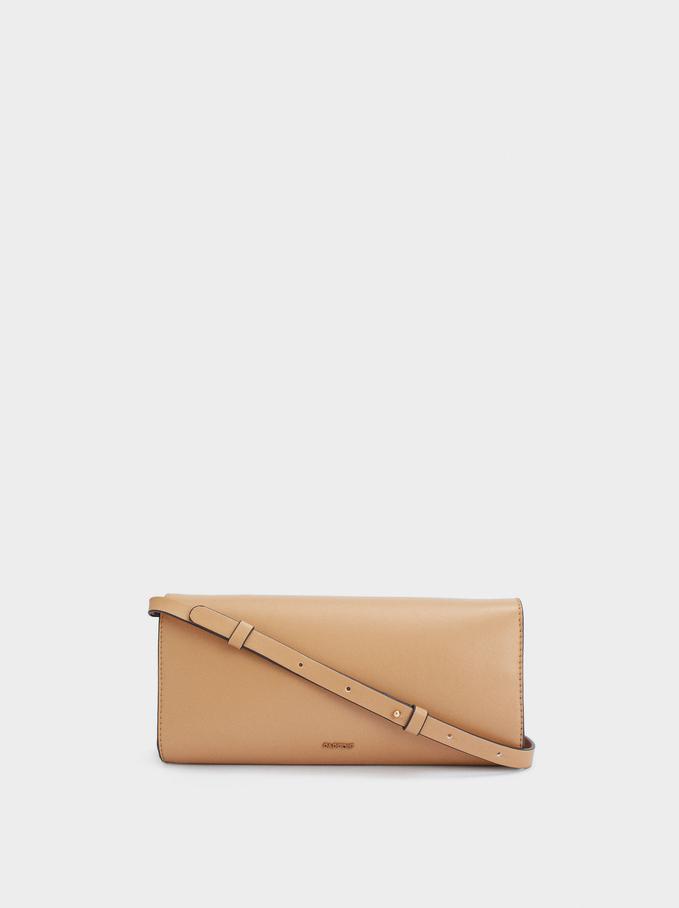 Handbag With Chain Detail, Camel, hi-res
