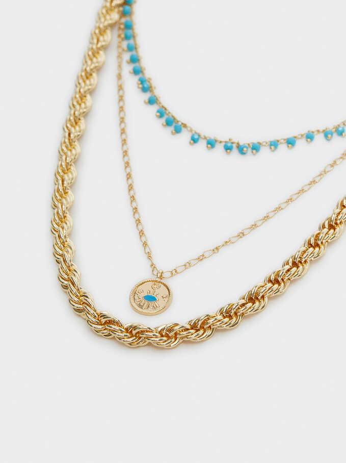 Hoop Fever Set Of Necklaces, Blue, hi-res