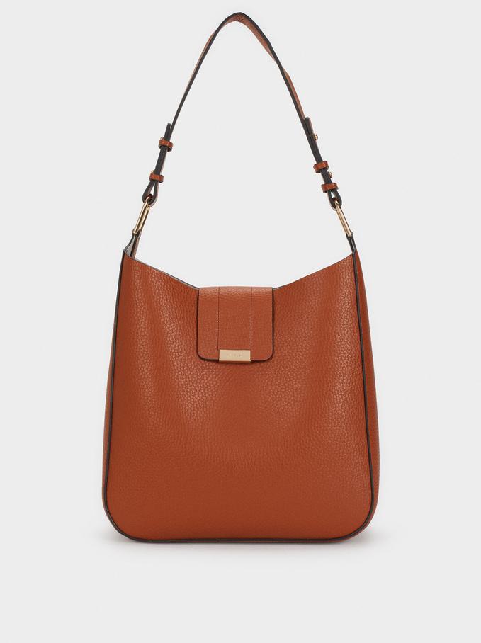 Shoulder Bag With Inner Pocket, Camel, hi-res