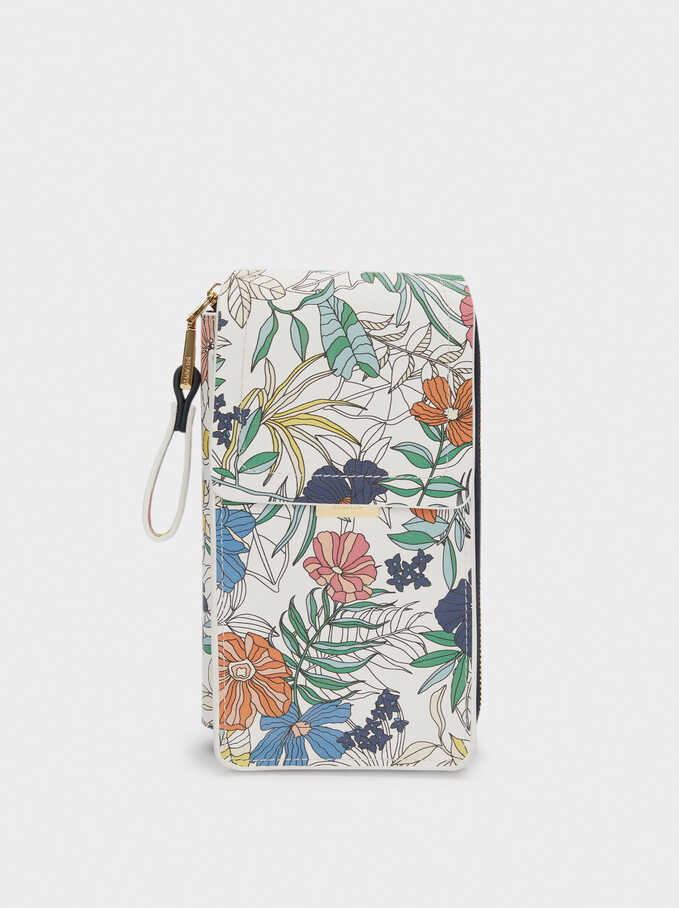 Floral Print Mobile Phone Case, Navy, hi-res