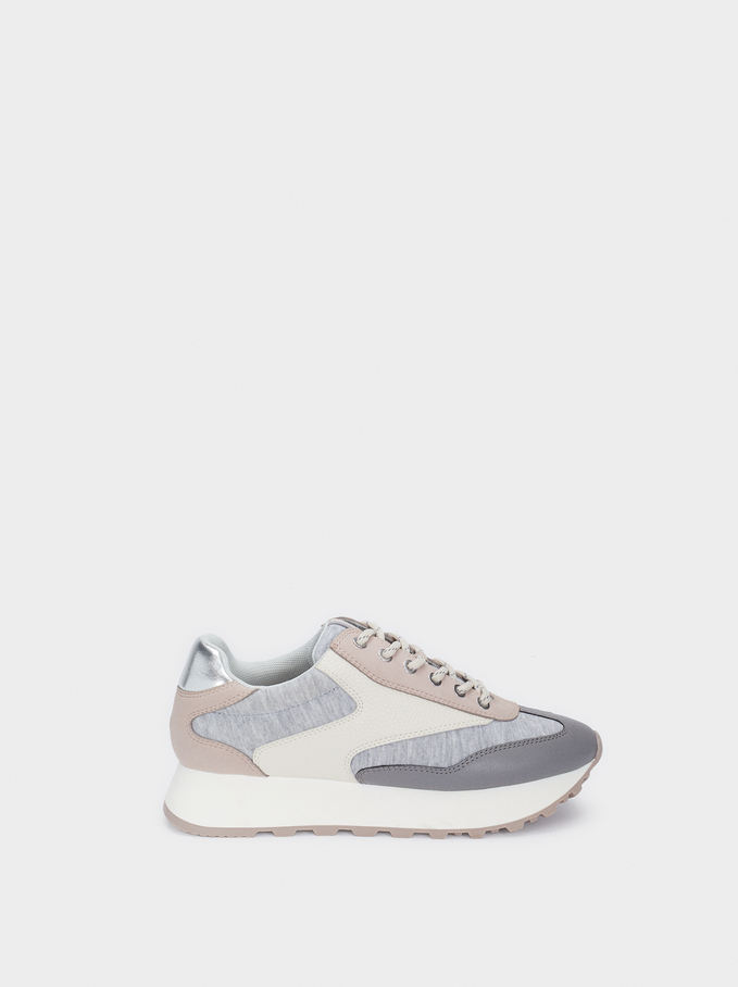 Jersey Trainers, Grey, hi-res