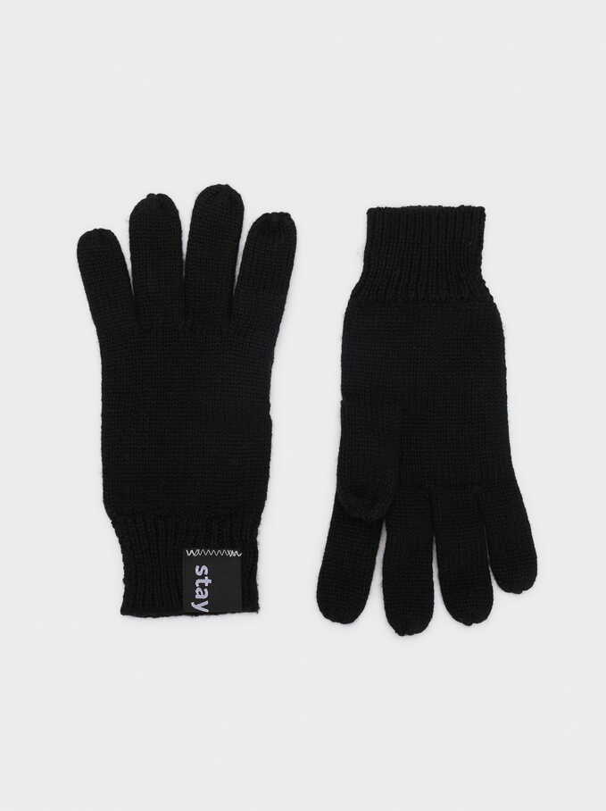 Guantes De Lana Stay Cool, Negro, hi-res