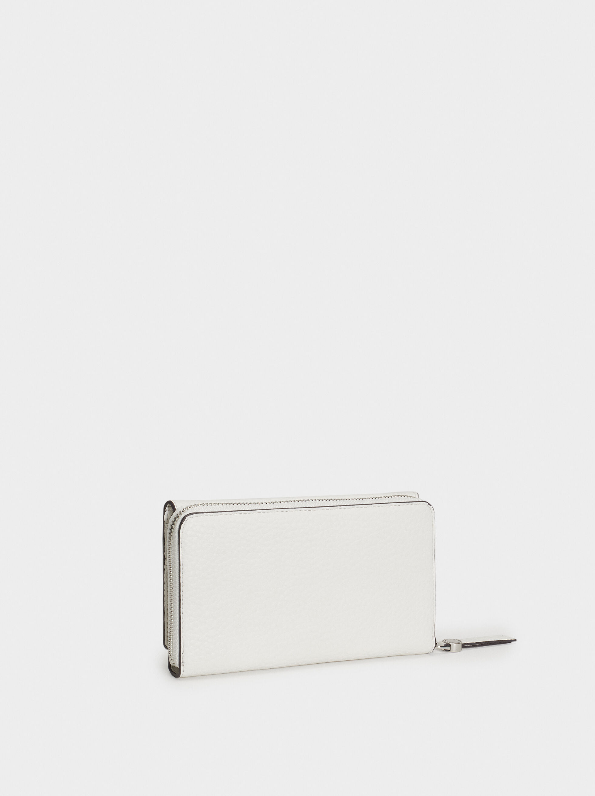 Plain Long Wallet, Ecru, hi-res