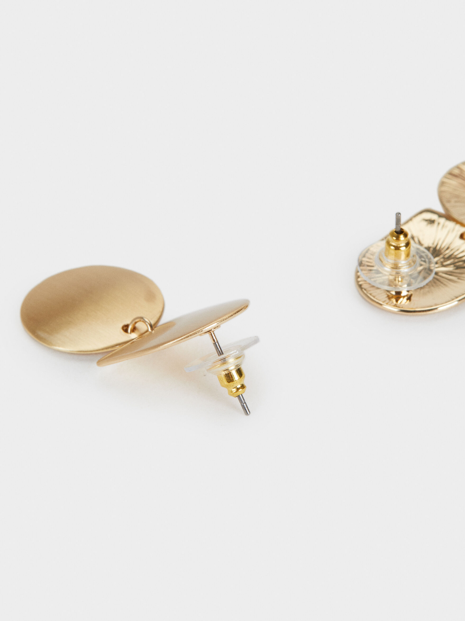 Basic Stud Earrings, Golden, hi-res