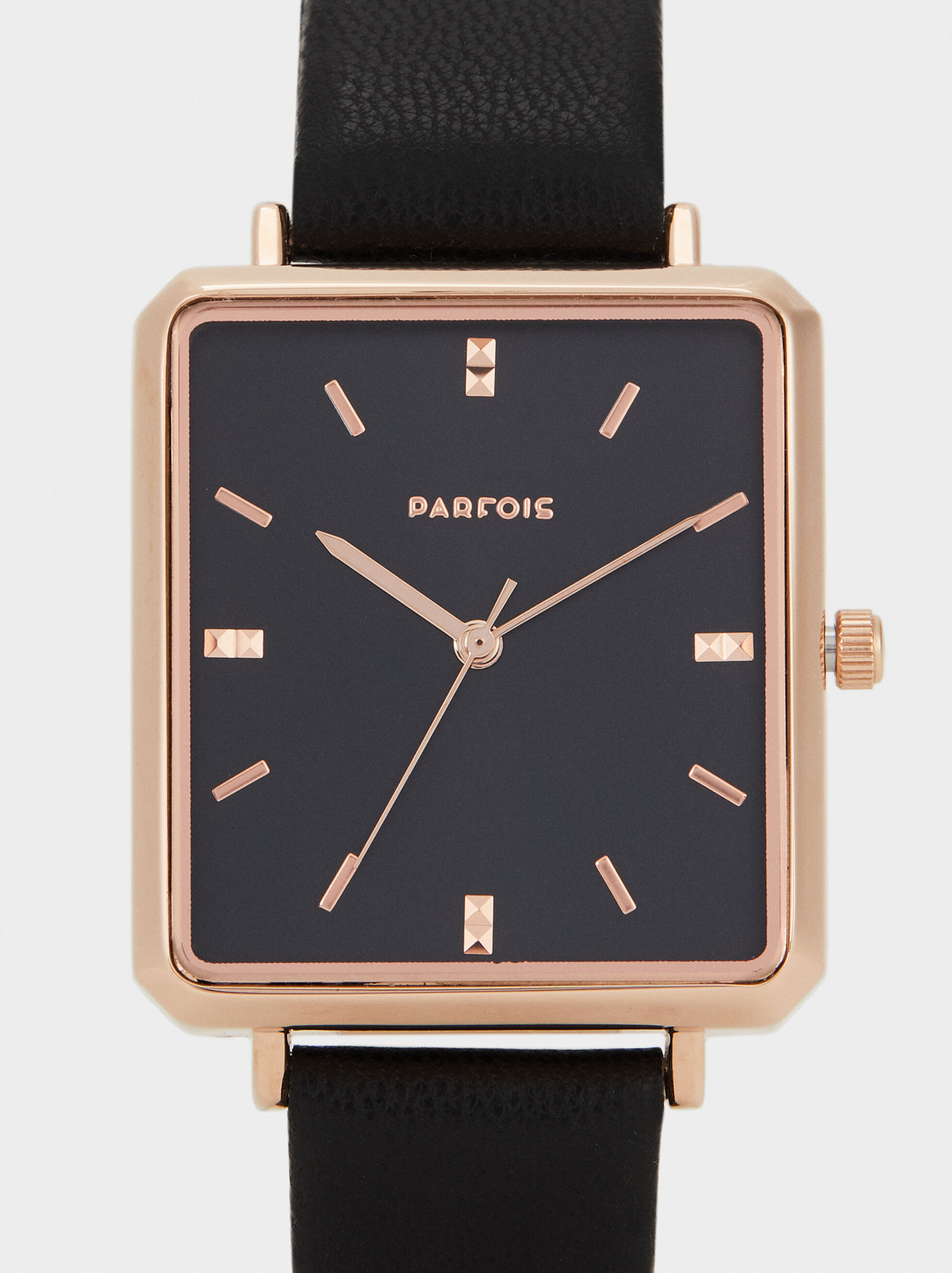 Watch With Square Face, Black, hi-res