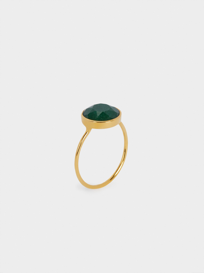 Silver 925 Ring With Stone, Multicolor, hi-res
