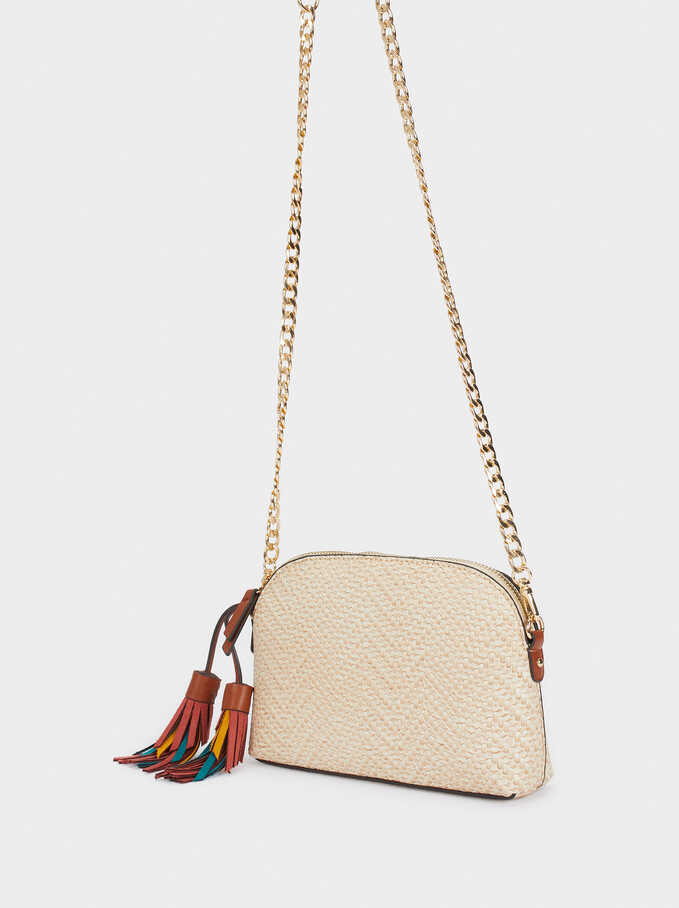 Multicoloured Charm Crossbody Bag, Ecru, hi-res