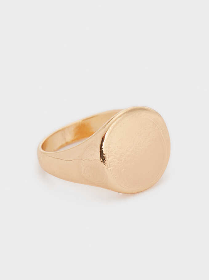 Golden Signet Ring, Golden, hi-res