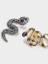Set Of Serpent Brooches, Multicolor, hi-res