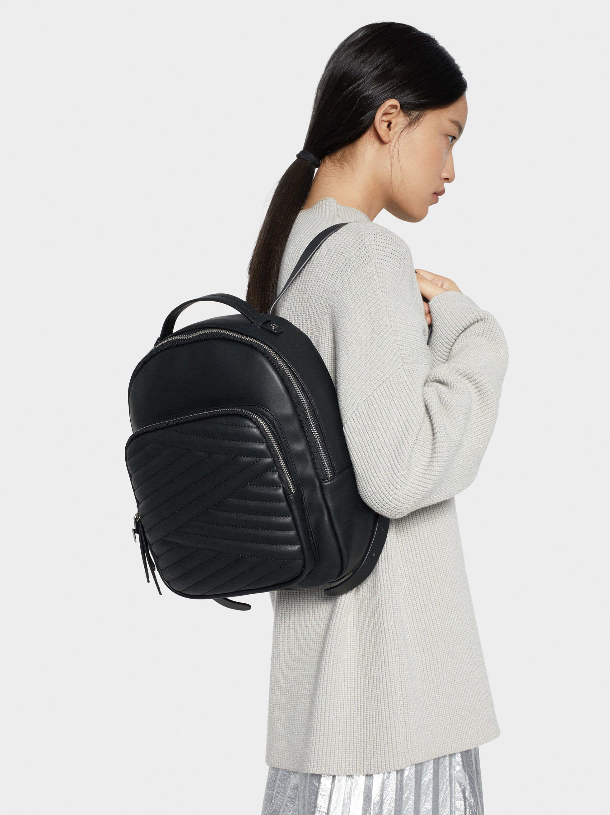 Quilted Backpack, , hi-res