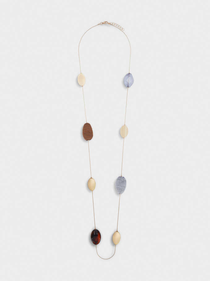 Long Necklace With Bead Detail, Multicolor, hi-res