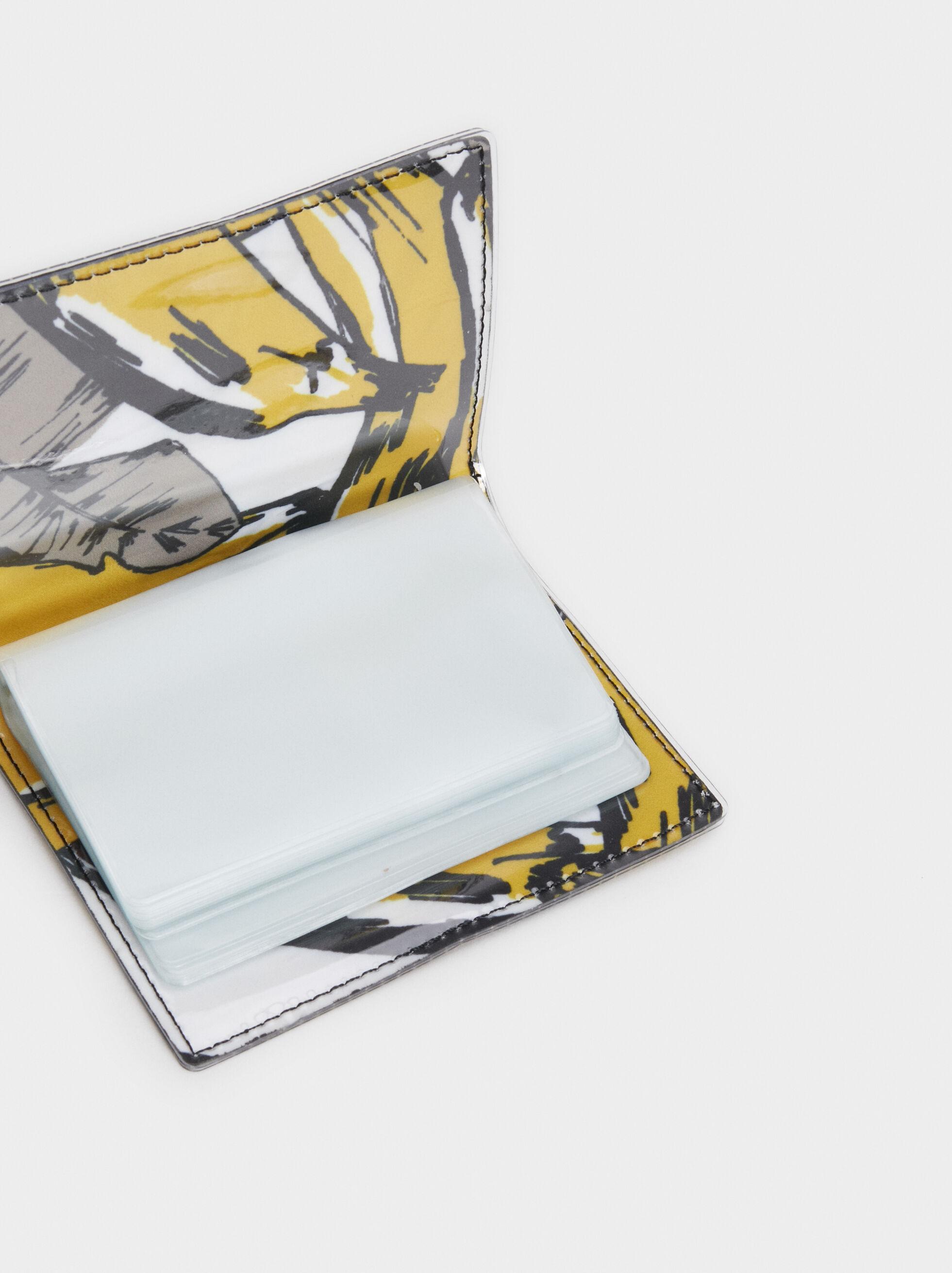 Plain Card Holder, Yellow, hi-res