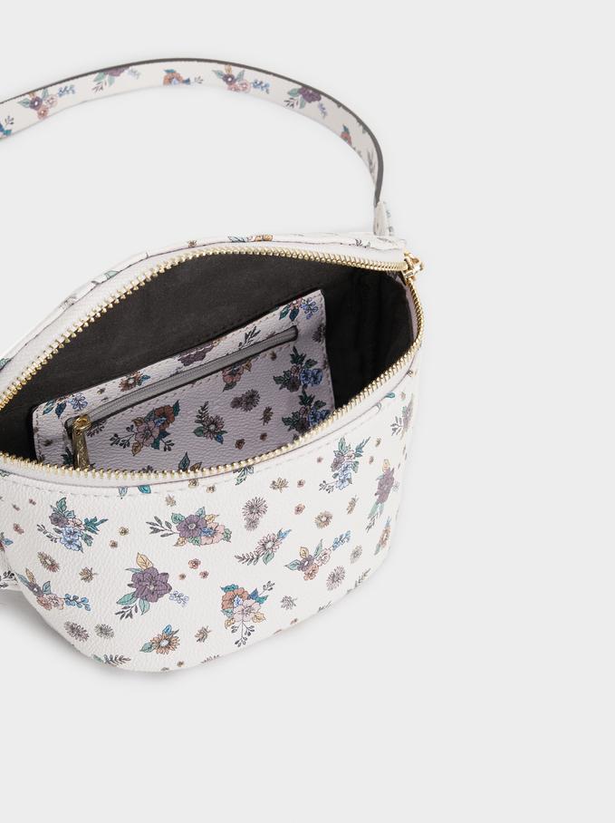 Bolsa De Cintura Rose Estampado Floral, Rosa, hi-res
