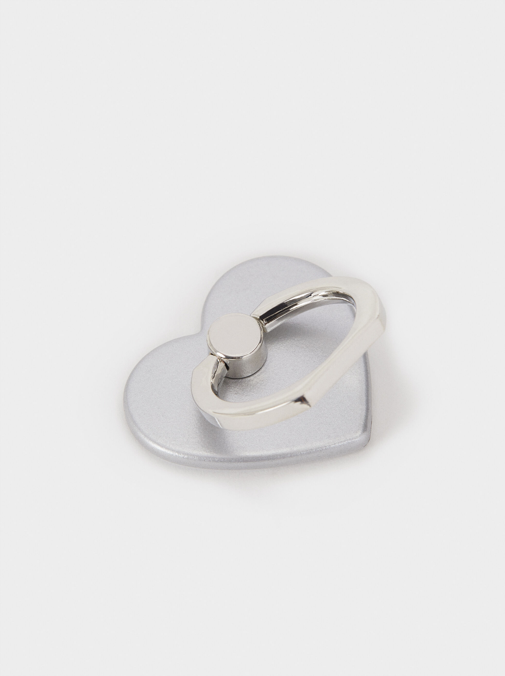 Mobile Phone Ring Stand, Silver, hi-res