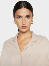 Plain Shirt, Beige, hi-res