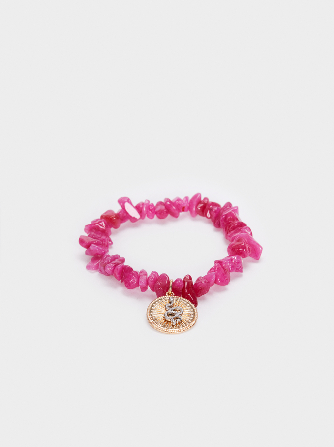 Petrified Elastic Bracelet, Pink, hi-res
