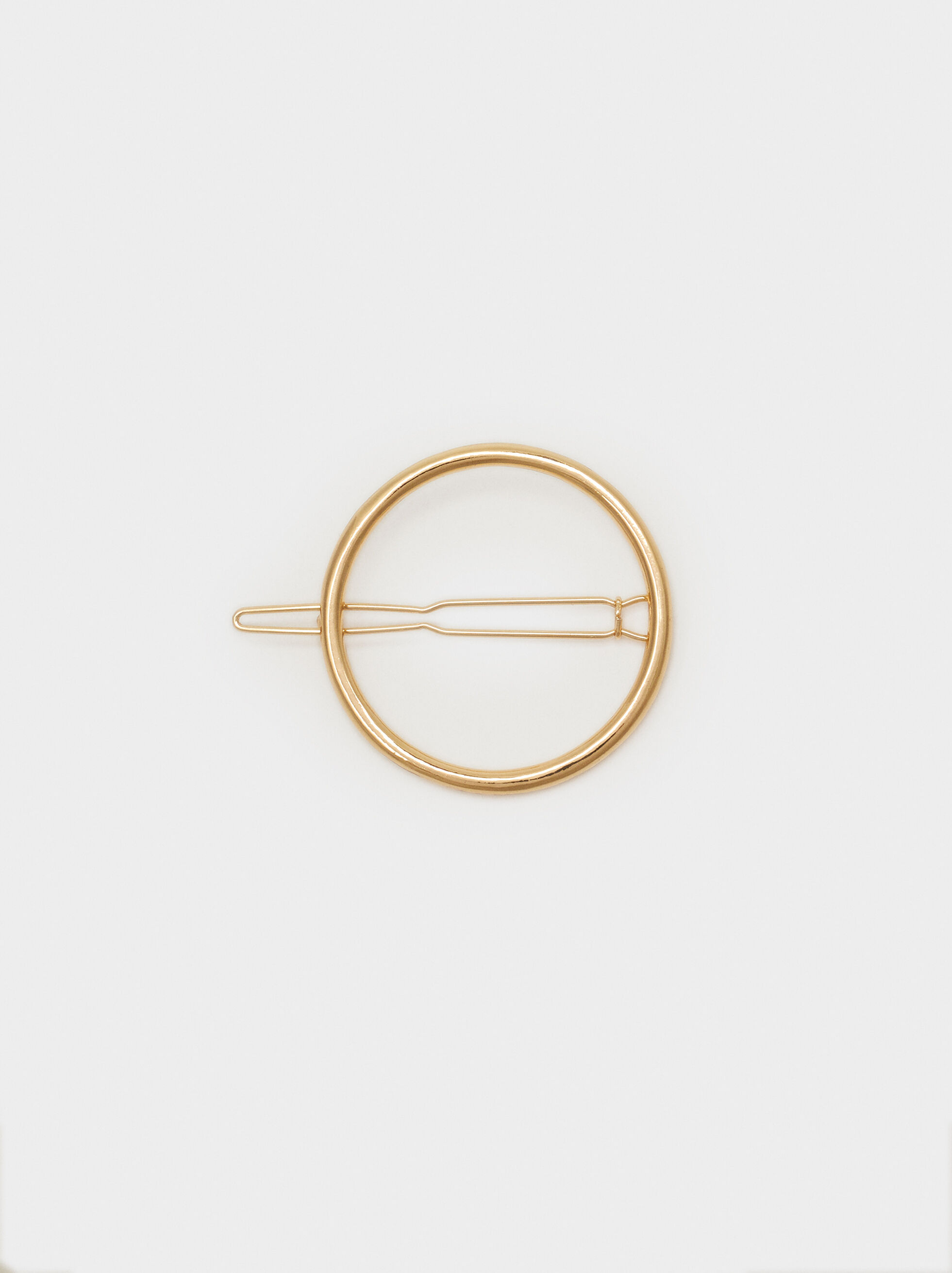 Basic Circular Hairpin, Golden, hi-res