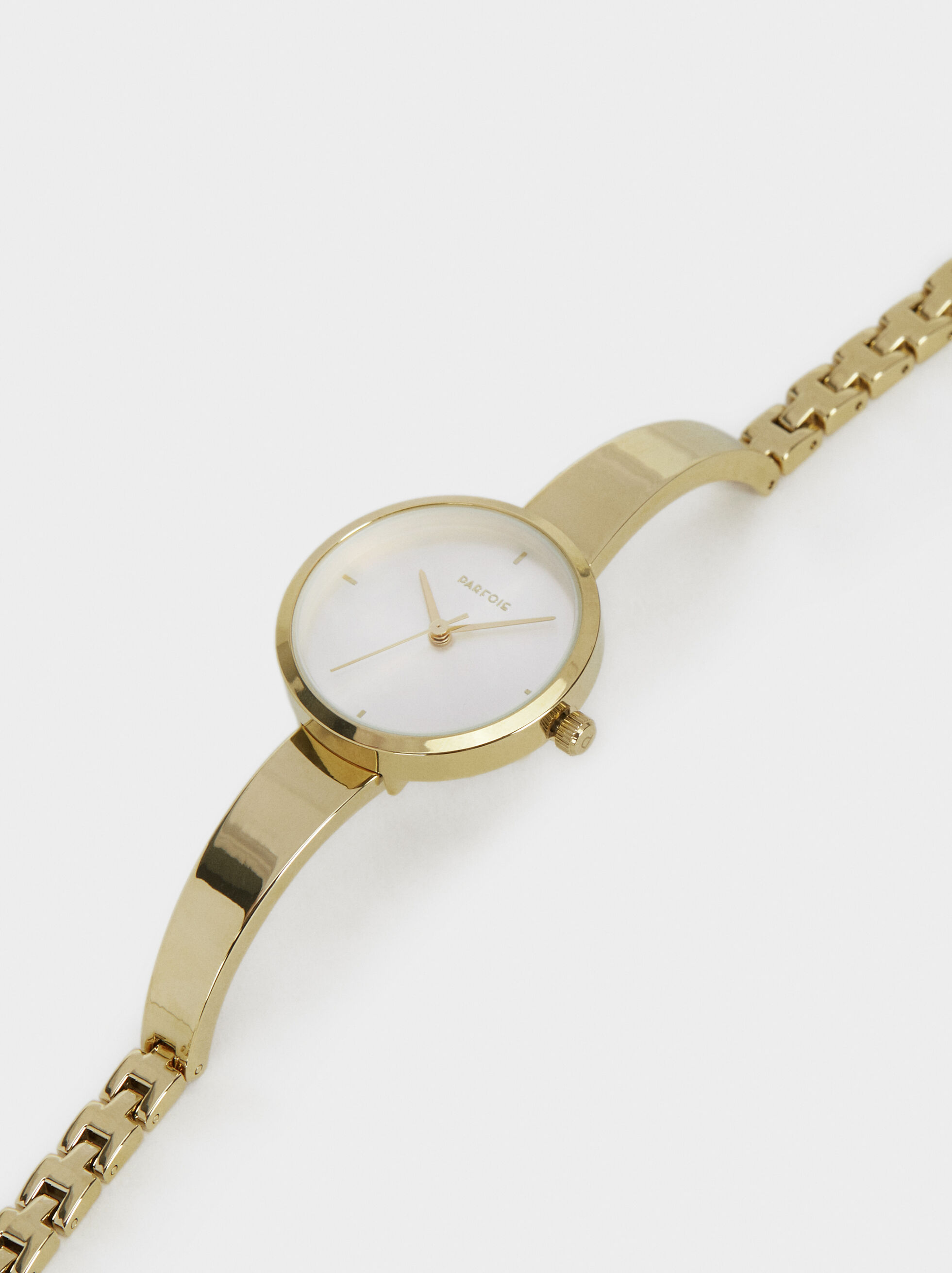 Watch With Steel Wristband, Golden, hi-res