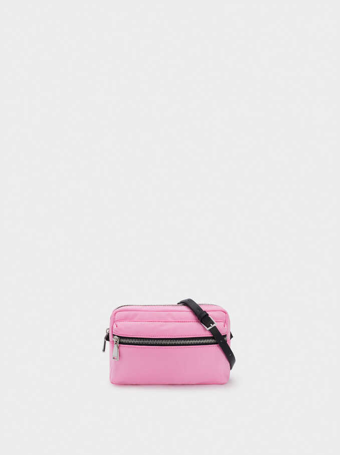 Nylon Crossbody Bag, Pink, hi-res