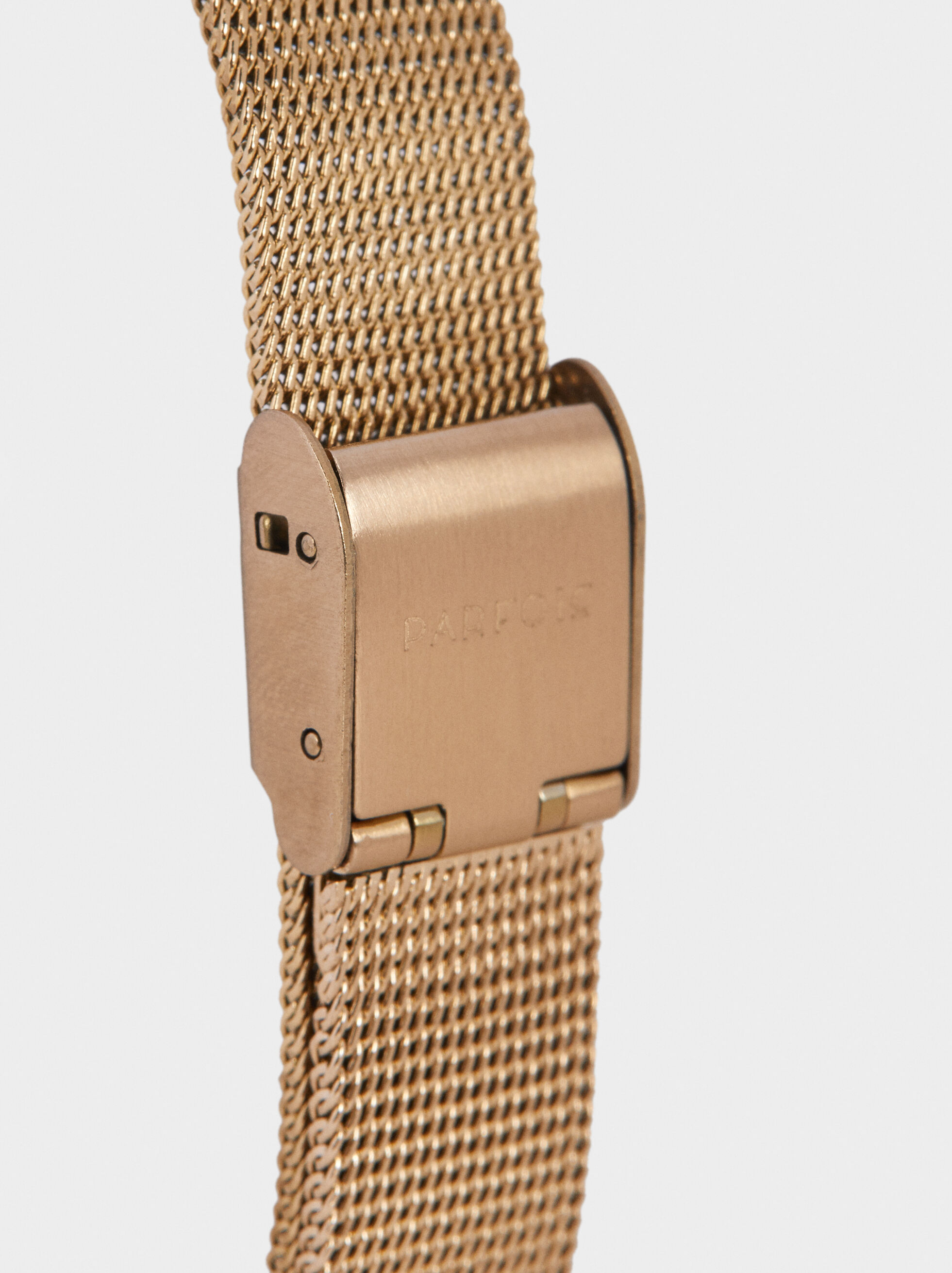 Watch With Milanese Strap, Golden, hi-res