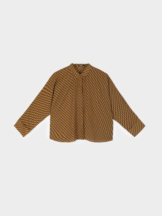 Printed Shirt, Green, hi-res