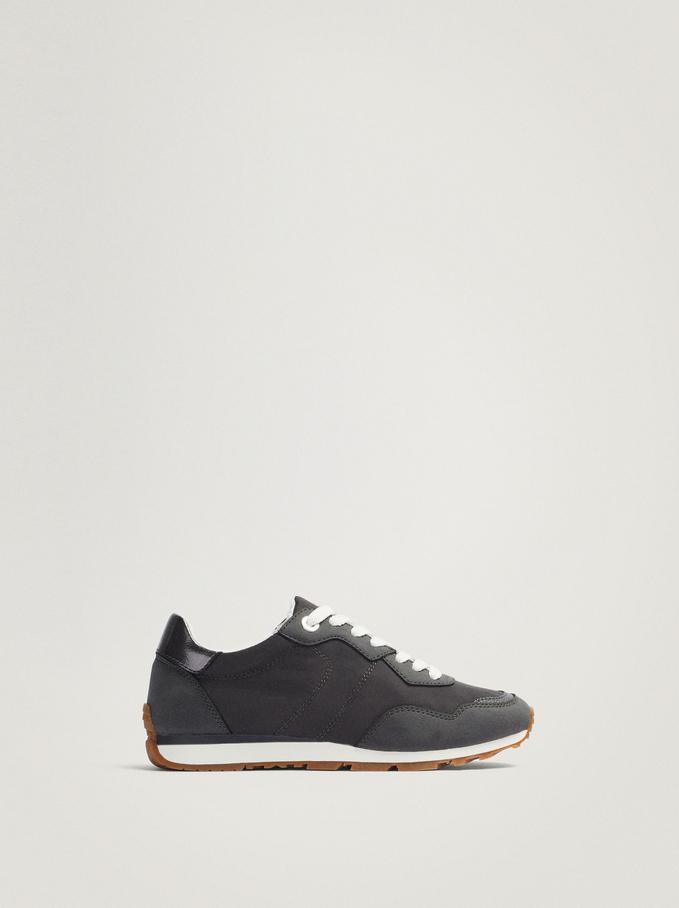 Contrasting Sneakers, Grey, hi-res