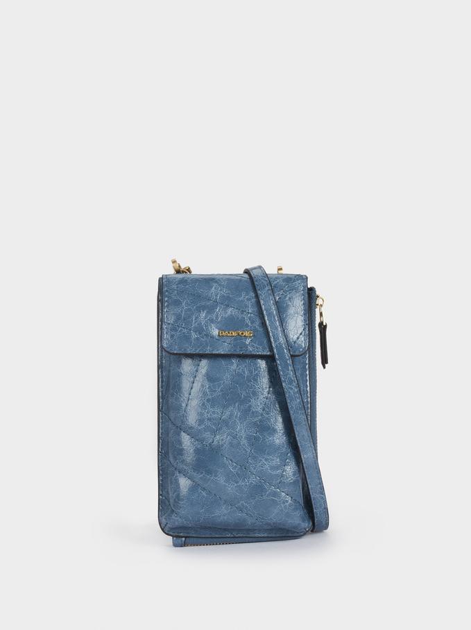 Multicoloured Striped Phone Case, Blue, hi-res