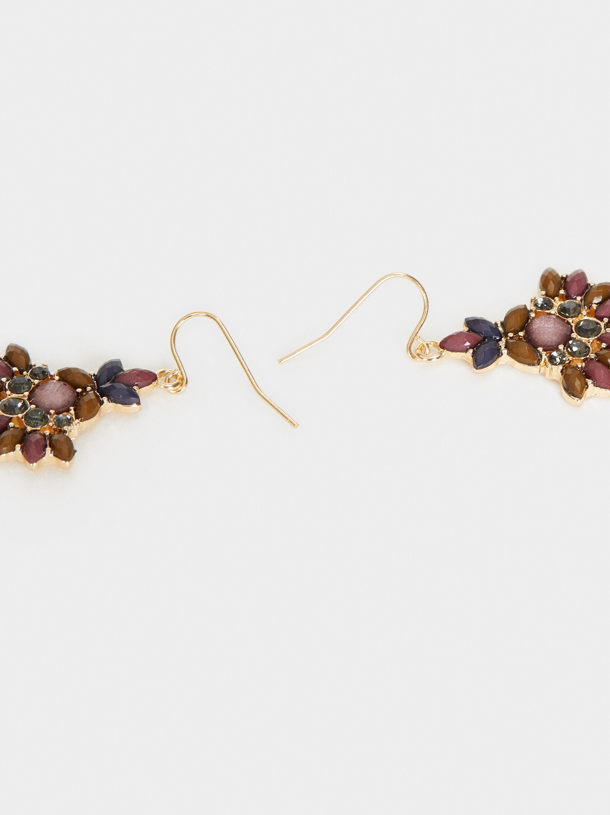 Savage Sparkle Medium Earrings, Multicolor, hi-res