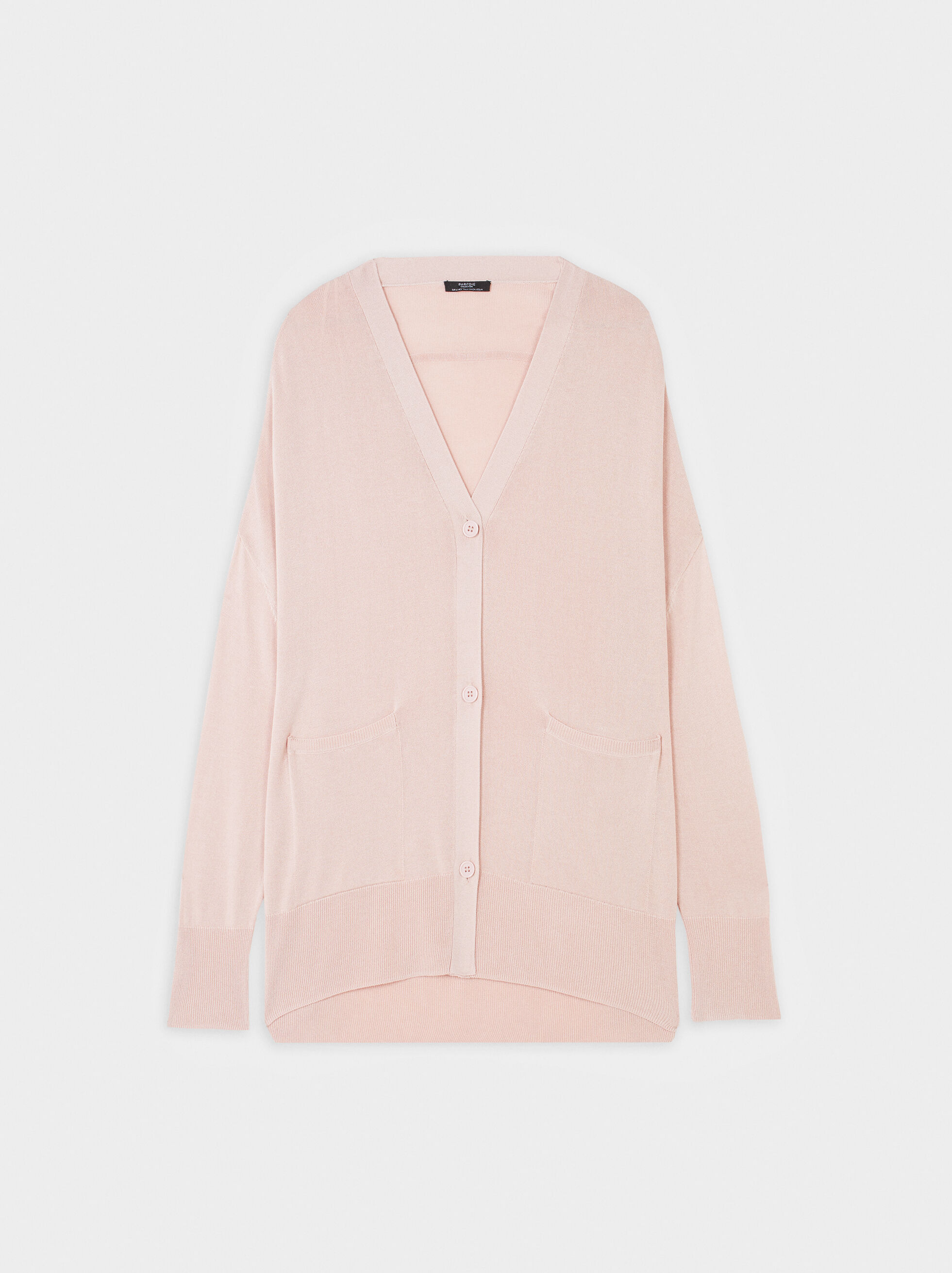Knit Cardigan, Pink, hi-res
