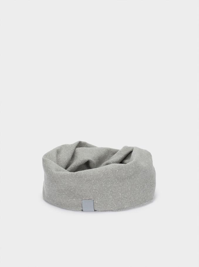 Plain Snood, Grey, hi-res