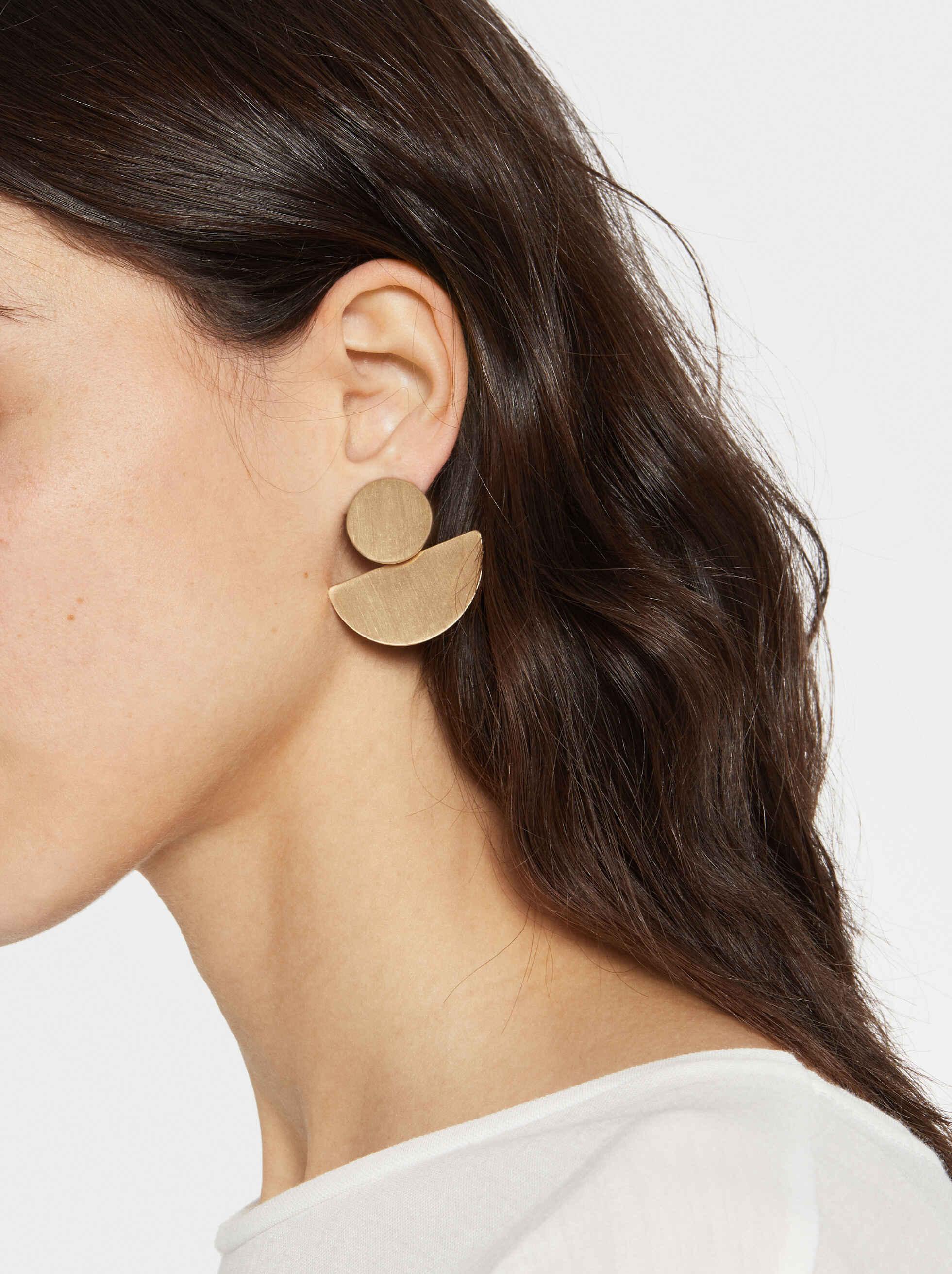 Medium Geometric Earrings, , hi-res