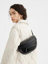Animal Embossed Belt Bag, Black, hi-res