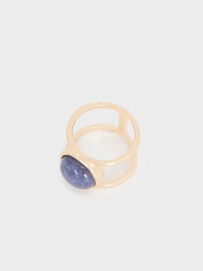 Anillo Con Piedra, Azul, hi-res