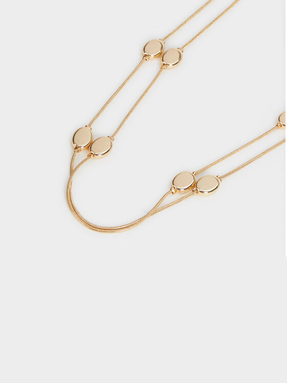 Savage Sparkle Long Necklace, Golden, hi-res