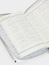 Floral Print Agenda, Pink, hi-res