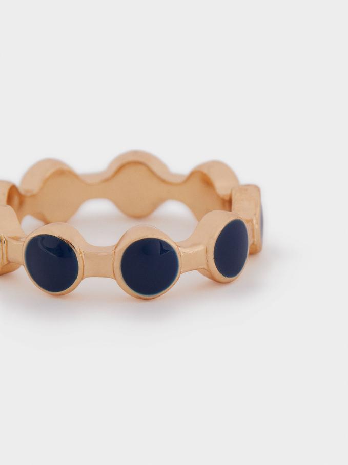 Enamel Ring, Multicolor, hi-res