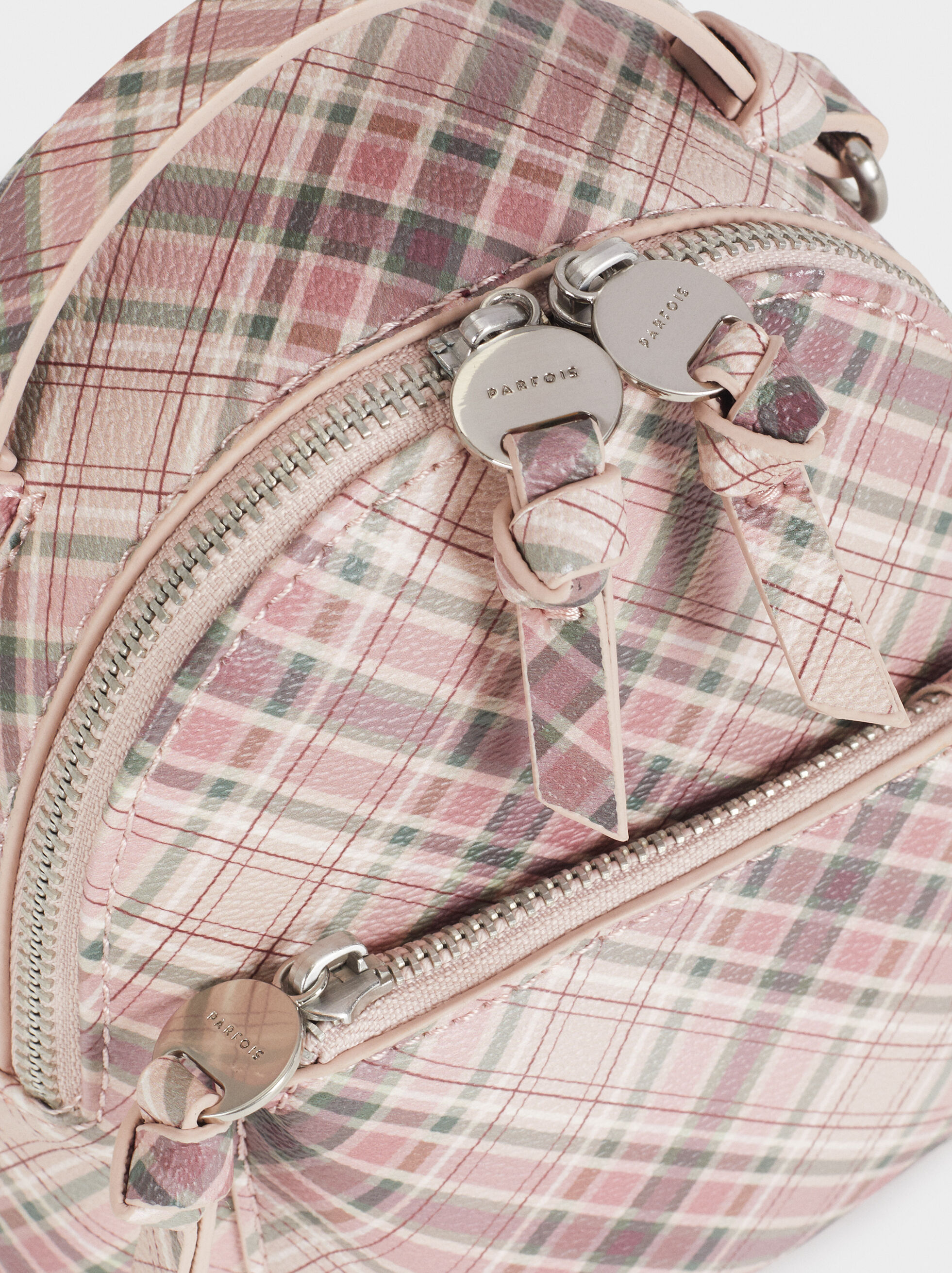Check Print Backpack, Pink, hi-res