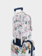 Floral Print Suitcase, Navy, hi-res