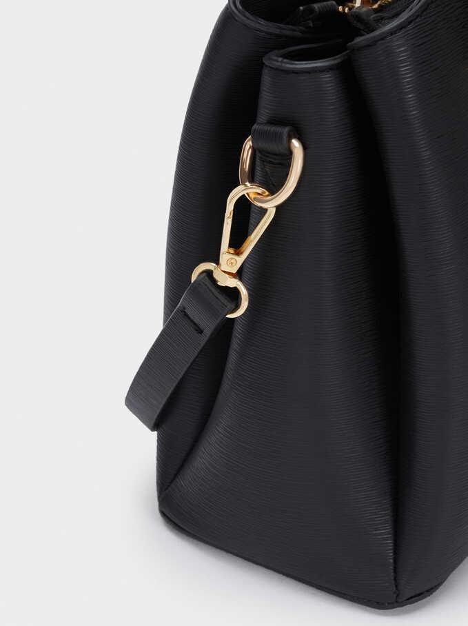 Tote Bag With Adjustable Handle, Black, hi-res