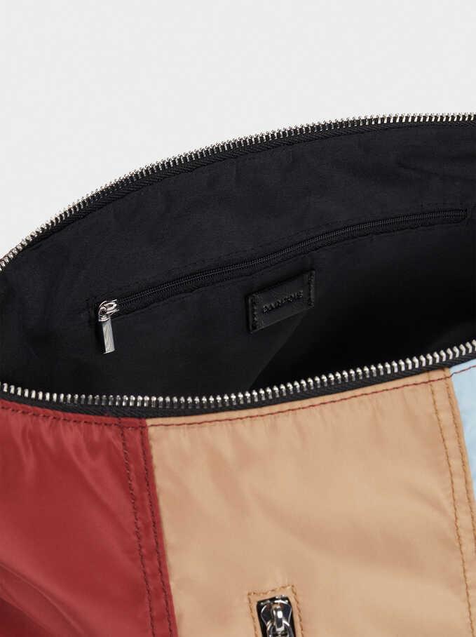 Nylon Shoulder Bag, Beige, hi-res