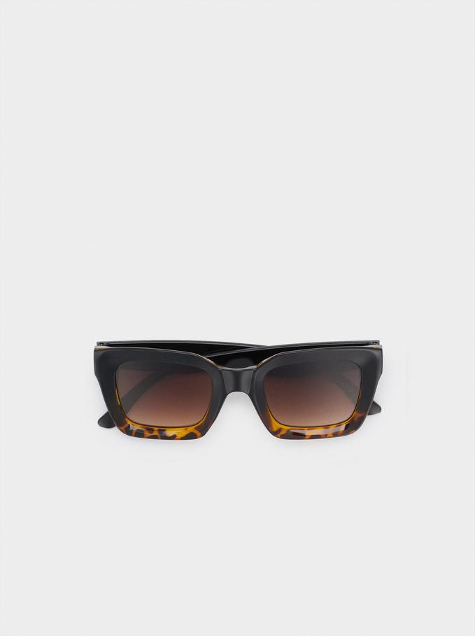 Square Frame Sunglasses, Black, hi-res